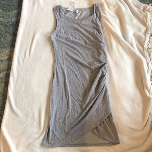 Grey Ruched t-shirt tank dress